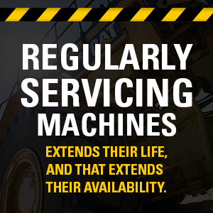 Regularly servicing machines extends their life, and that extends their availability