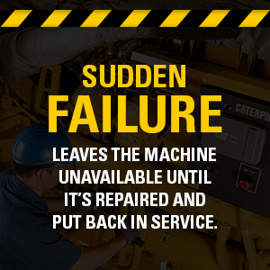 Sudden failure leaves the machine unavailable until it's repaired and put back in service.