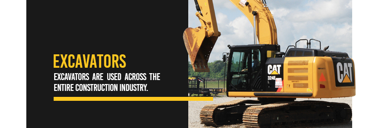 Excavators are used across the entire construction industry