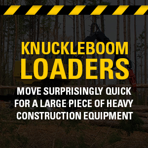 Knuckleboom Loaders move surprisingly quick for a large piece of heavy construction equipment.